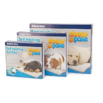 Ancol Dog Cat Puppy Kitten Sleepy Paws Self Heating Pet Bed Reflective Heat Pad