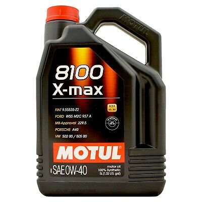Motul 8100 X-Max 0W-40 Fully Synthetic Engine Motor Oil 0W40 5 Litres 5L