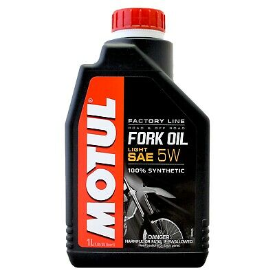 Motul Fork Oil Factory Line Light 5W Performance Suspension Fluid 1 Litre 1L