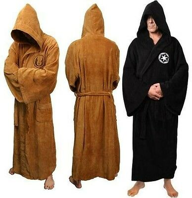Star Wars Jedi Knight BathRobe Costume Size:S/M/L Velour Party Gift Cosplay