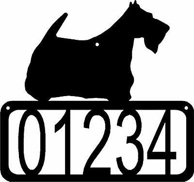 Scottish Terrier Dog CUSTOM Personalized Metal ADDRESS House Number Sign Made US