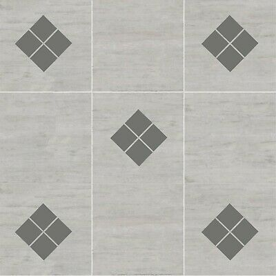 18 x Diamond Square Tile Transfer Stickers Bathroom Kitchen Decal Waterproof T10