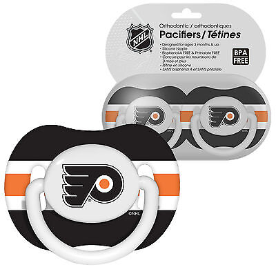 2 Pack NHL Philadelphia Flyers Pacifier Set 3 months and up