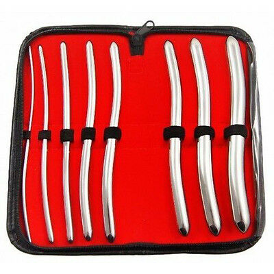 8 Pieces Set of Hegar Uterine Dilator With Carrying Case Surgical Gynecology