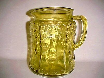 Amber Patrician / Spoke  Pitcher / Federal Glass Co.