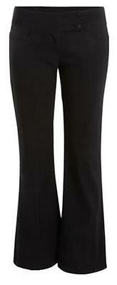 Sexy Miss Sassy Bootcut  2 button strech  black school trousers sizes 6-14