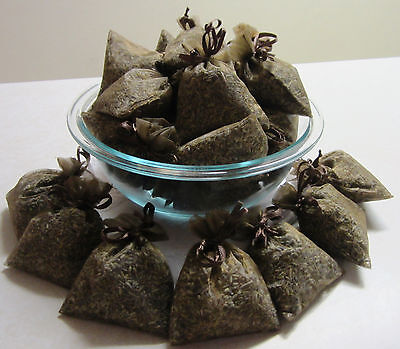 Set of 30 Lavender Sachets made with Brown Organza Bags