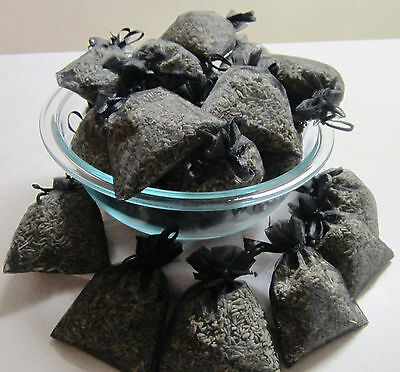 Set of 20 Lavender Sachets made with Black Organza Bags