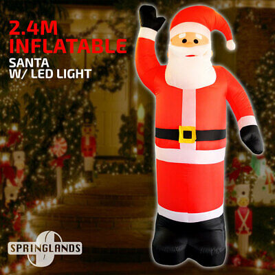 Inflatable Santa w/ Built-in Light,Christmas Decoration Airblown Xmas 8' Height