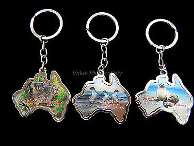 6 Australia Souvenir Metal Key Ring Koala Joey Penguins Seal Phillip Island