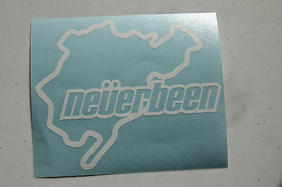 Neverbeen Nurburg Ring Silver Hologram Neo Chrome Funny Novelty Stickers Decals