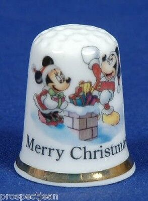 Merry Christmas from Mickey & Minnie 'Exclusive' China Thimble B/47