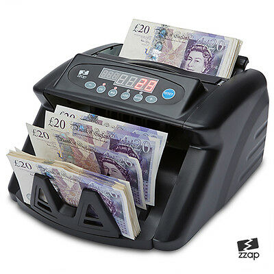 Battery Powered Bank Note Counter Count Money Fast Banknote Pound Cash Machine