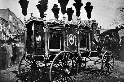 New 5x7 Photo: President Abraham Lincoln Hearse in Springfield, Illinois