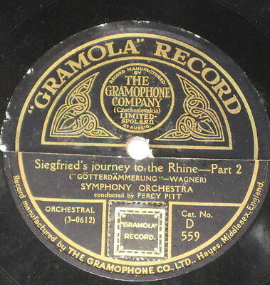 78rpm/Gramola 559/WAGNER/SIEGERIED`S JOURNEY TO THE RHINE 1+2 Part/PERCY PITT