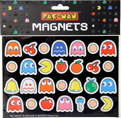 Official Pac-Man Fridge Magnets 28 Pieces Retro Pac Man Gift