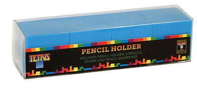 Official Tetris Pencil Holder Office Desktop Gift with Sharpener and Rubber