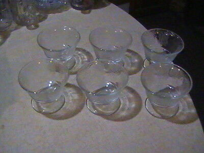 6 Federal Glass Normandie Crystal Sherbets