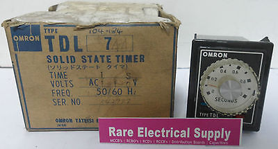 NEW Omron Type TDL-7-44 Solid State Timer 110vAC 50/60Hz TDL744 Time Delay Relay