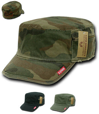 Rapid Dominance Vintage BDU Military Fatigue Distressed Cadet Camo Caps Hats