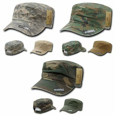5f4ccad3adeca Rapid Dominance Reversible FlatTop Cadet Military Patrol Cotton Camo Caps  Hats