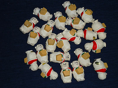 Lot of 22 Hallmark Merry Miniature 1990 Christmas Mamma Bears w/Basket