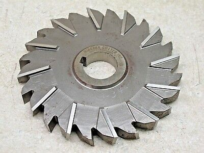 """Interstate 4/"""" x 5//16/"""" x 1-1//4/"""" Hss Staggered Teeth Side Milling Cutter 02984201"""
