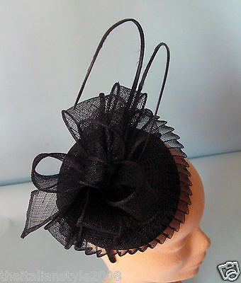 Cerchietto In Sisal, Sinamay Fascinator