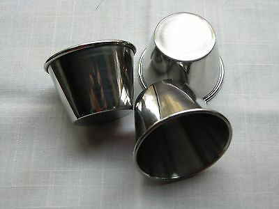 Stainless Steel Souffle Cups for Drawn Butter,Cocktail Sc,Dipping Sc 36pc 2.5oz