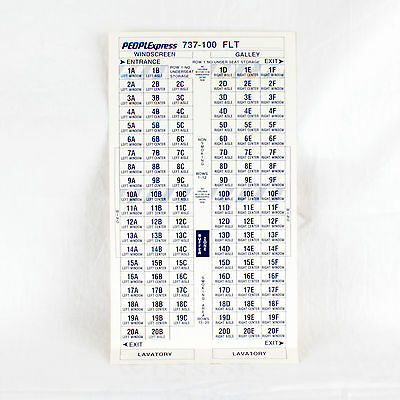 People Express - Boeing 737-100 - Seat Allocation Sticker Sheet - Top Quality