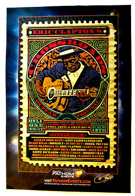 Crossroads Guitar Festival 2013 movie poster * signed by Donovan