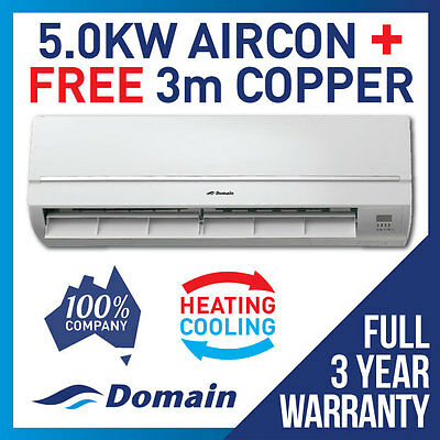 New 5.0Kw Reverse Cycle Split System Air Conditioner Cooling / Heat Sale!!!!