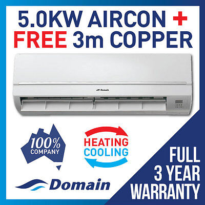 New Domain 5.0Kw Reverse Cycle Split System Air Conditioner Cooling / Heat