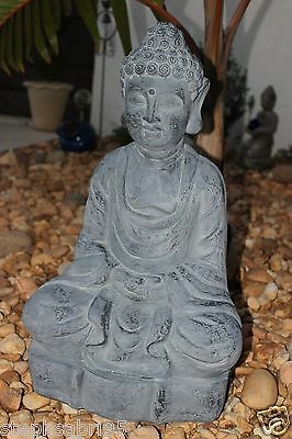 LARGE BUDDHA STATUE GARDEN ANTIQUE Buddhism GREY HOME DECOR