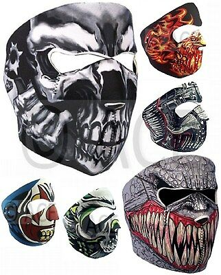 Neoprene Full Face Mask Reversible Biker Skateboard Balaclava Sports Motorbike