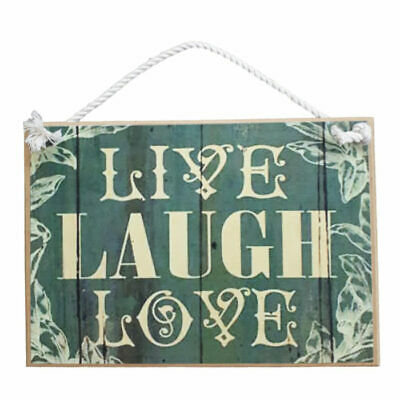 Country Printed Quality Wooden Sign With Hanger Live Laugh Love Plaque New
