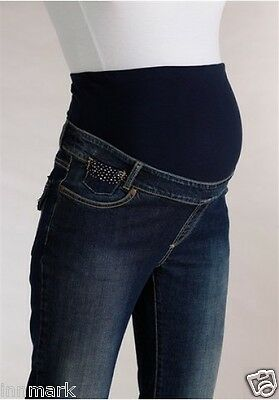 132 Maternity Mother Casual Pants Propping Belly Straight Jeans Pregnant 8 - 12