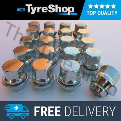 x20 12x1.5 Ford Alloy Wheel Nuts Lugs Floating Washers Focus Fiesta C-Max Fusion