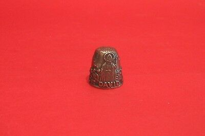 Saint David Patron St. of Wales Thimble Pewter Collectible Thimble
