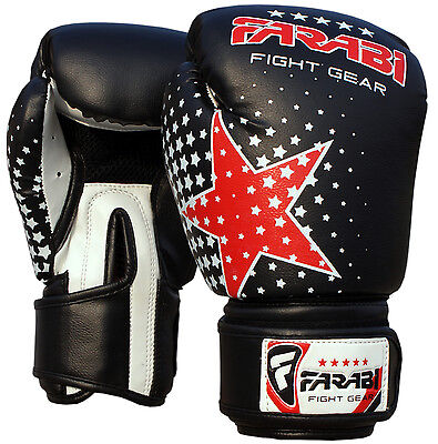 Farabi Starlux Series Kids Boxing MMA Punch Mitts Sparring Punching Gloves 6-OZ
