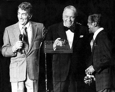 THE RAT PACK - DEAN MARTIN, FRANK SINATRA & SAMMY DAVIS JR - 8X10 PHOTO (AA-079)