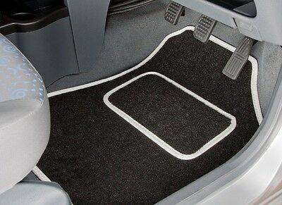 PEUGEOT 508 (2011 ONWARDS) TAILORED CAR MATS WITH WHITE TRIM (2434)