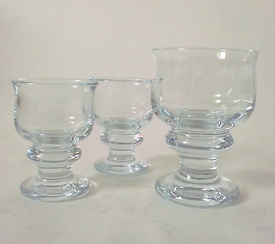 70s vintage 3 x Holmegaard Glas Per Lütken Tivoli glass set of three annees 70