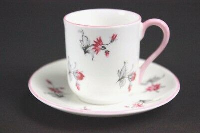 Vintage Shelley Miniature Cup & Saucer Pattern 13849 C.1950'S Pink Flowers