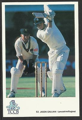 Jason Gallian/ Lancashire-England  Tccb Cricket Postcard 52