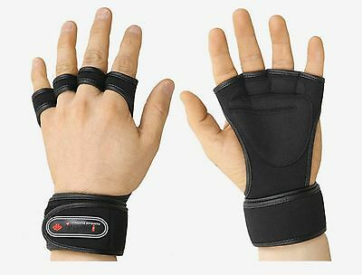 Health Gloves Wrist Wrap Workout Dumbbell Fitness Weight Gym Lifting Grip new