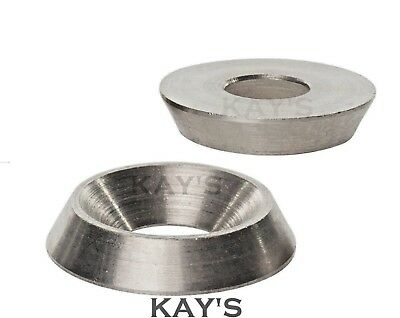 A2 Stainless Steel Solid Machine Turned Finishing Cup Washers For Screws & Bolts