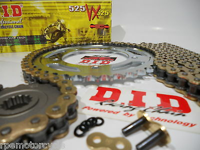 TRIUMPH 865 Bonneville 06-12  DID GOLD 525 VX X-Ring CHAIN AND SPROCKETS KIT