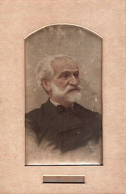 GIUSEPPE VERDI - Italian COMPOSER - UNUSUAL PRINTED SILK PHOTOGRAPH