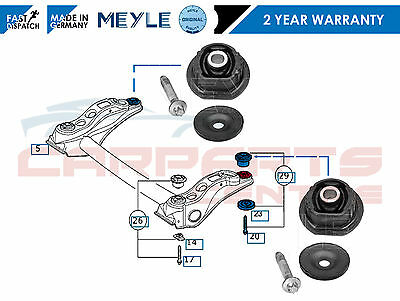 For Mercedes A Class A140 A160 A170 A190 Rear Subframe Axle Rear Bushing Kit